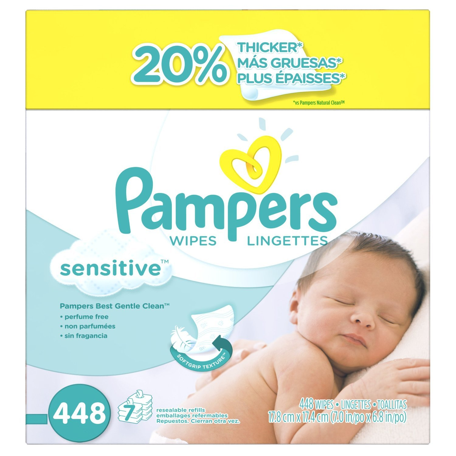 Pampers Baby Wipes Sensitive JohgMl, 4Pack (448 Count)