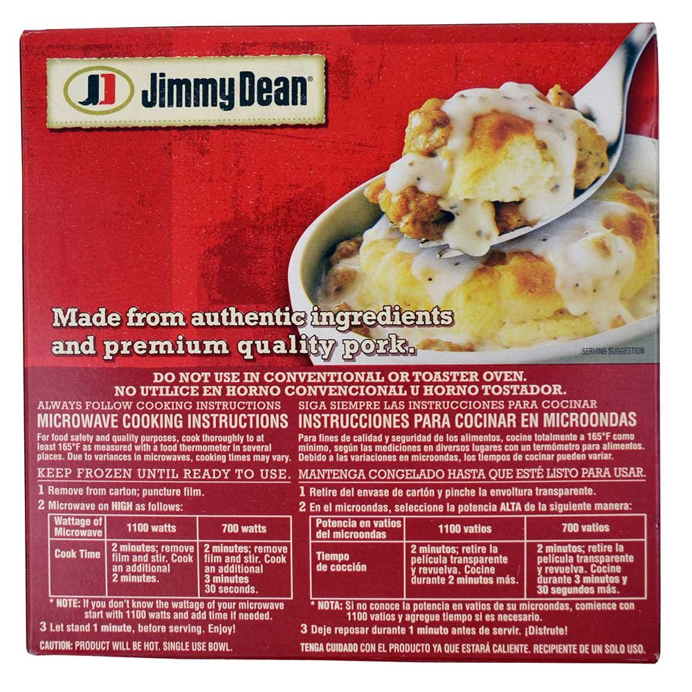 Jimmy Dean Biscuit and Sausage Gravy Breakfast Bowl, 9 Ounce - 8 per case.: Amazon.com: Grocery & Gourmet Food