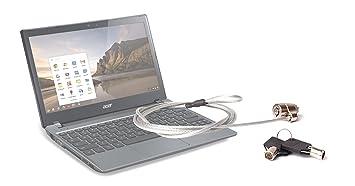 Candado de seguridad antirrobo con llave para ordenadores Acer Chromebook Series C7 y TravelMate B113,