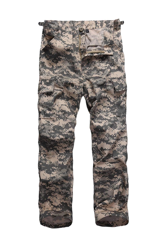 BACKBONE Boys Girls Kids Combat Army Ranger Camping outdoorcargo Pants Trousers Woodland Camo