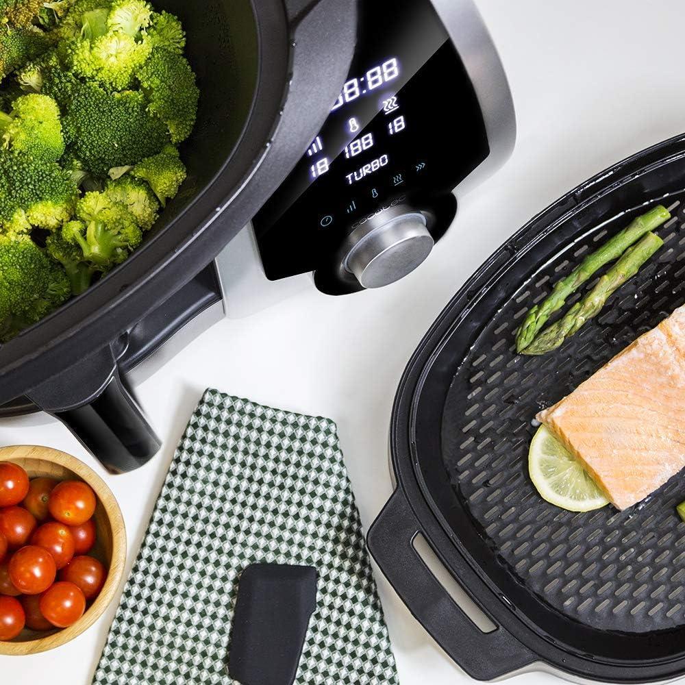 Cecotec Robot de Cocina Multifunción Mambo Silver. Capacidad de 3,3l, Temperatura hasta 120ºC con Selección Grado a Grado, 10 Velocidades + Turbo, Programable hasta 12h, Incluye Recetario, 1700 W: 235.95: Amazon.es: Hogar