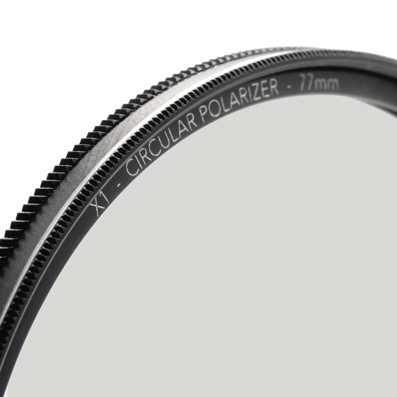 77mm X1 Circular Polarizer, MRC8, Ultra-Slim, Weather Sealed + Free Mircofiber Lens Cloth by Breakthrough Photography