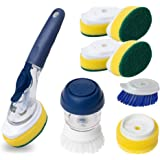 Dish Wand (10 Piece) Superior Heavy Duty Delaware Durables Dish Washing Kitchen Set - Soap Brush and Palm Sponge Included - E