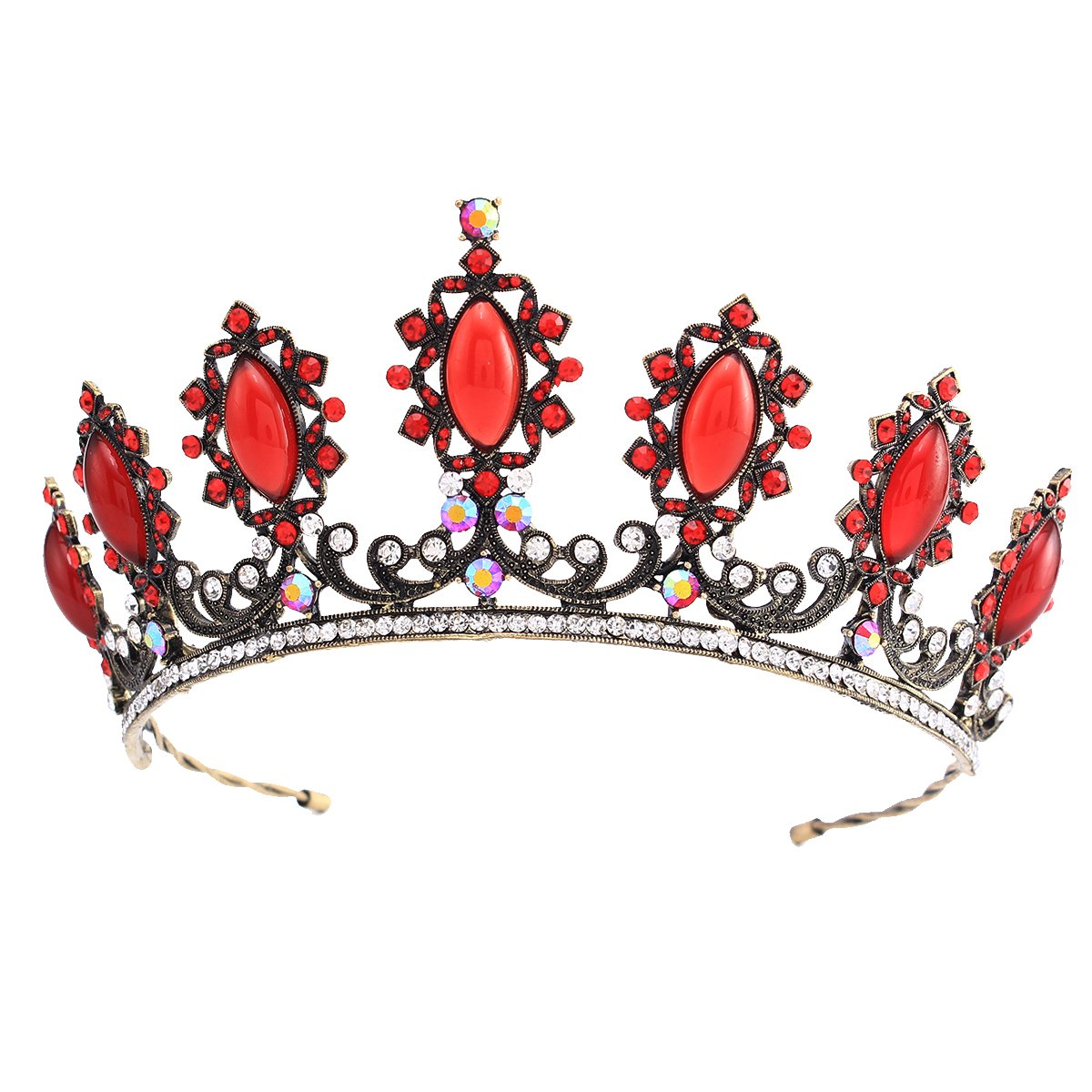 Stuffwhoesale Vintage Oval Ruby Crown with Drop Earring Jewelry Set by Stuffwholesale (Image #3)