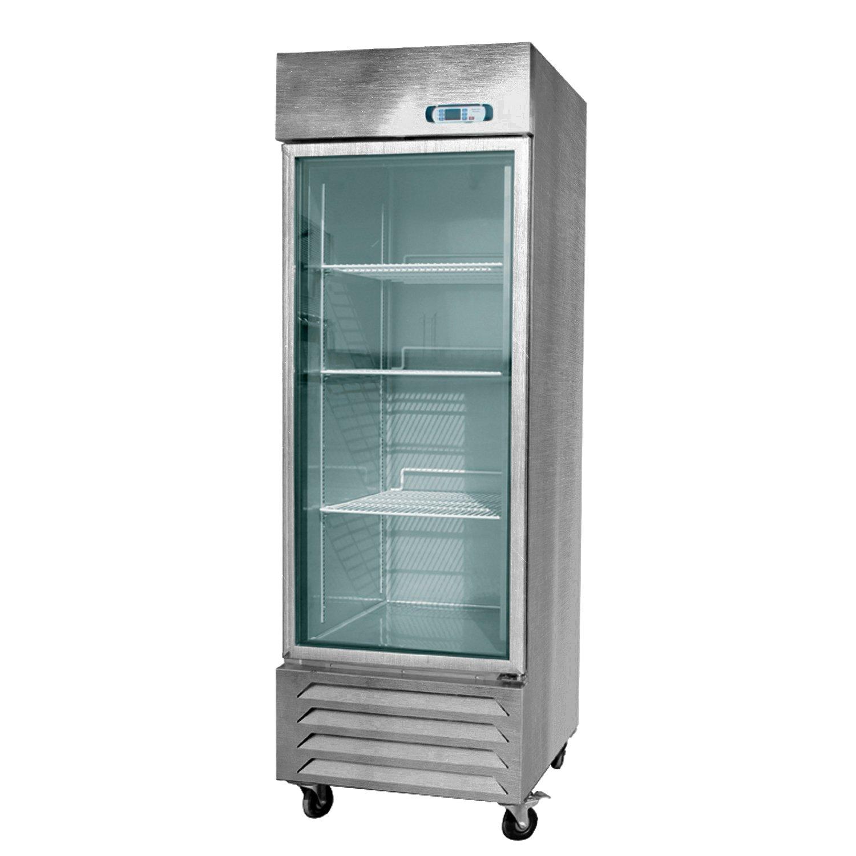 Amazon.com: EQ Kitchen Line Stainless Steel Commercial 1-Glass Door ...