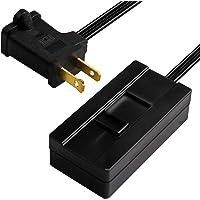 TOPGREENER Table-Top Plug in Dimmer for Table or Floor Lamps, Slide Control, Works with 360 Watt Incandescent/Halogen…