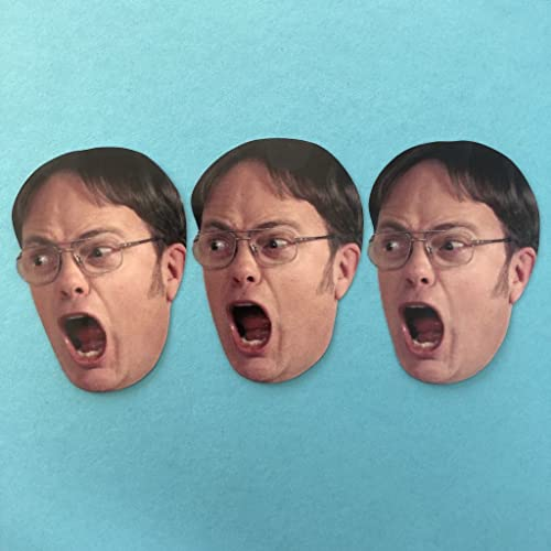Amazon com: Dwight Schrute Face The Office Sticker Set: Handmade