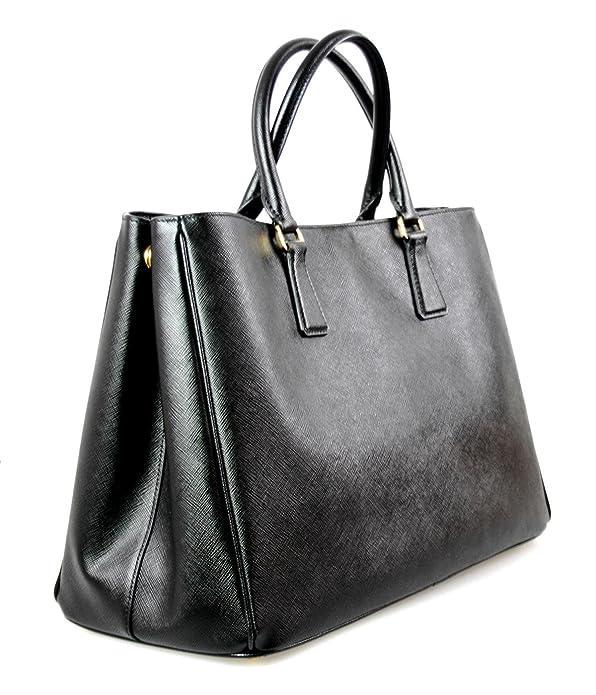 37eaf2bce3d5 Prada Women s BN1844 NZV F0002 Black Saffiano Leather Shoulder Bag   Handbags  Amazon.com