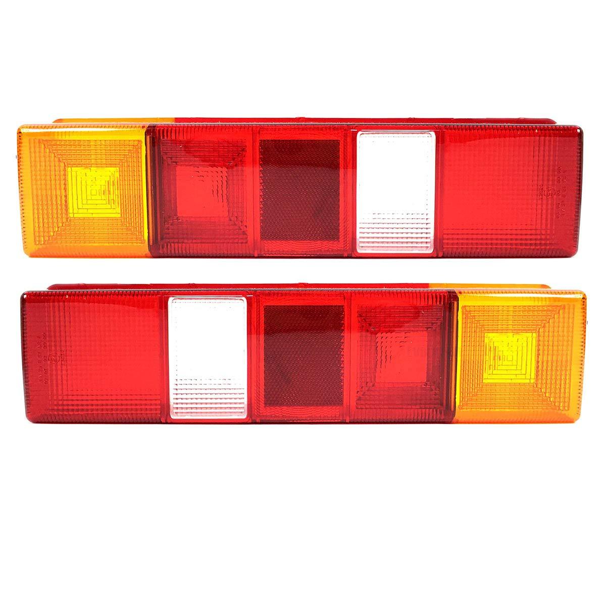 2x Lichtscheibe Heckleuchte Links//Rechts Glas R/ückleuchtenglas R/ückleuchten