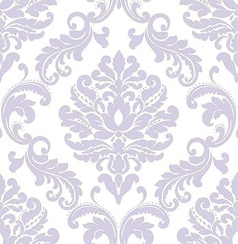 Wall Pops Nu1396 Purple Ariel Peel And Stick Wallpaper Amazon Com