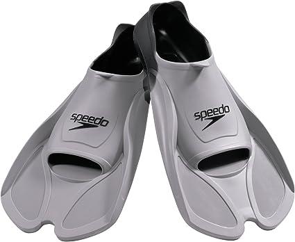 Gray//Gray Large Speedo Short Blade Training Fins