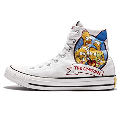 969c817ca38e Converse Chuck Taylor All Star High Simpsons Trainers (White) White Size  6