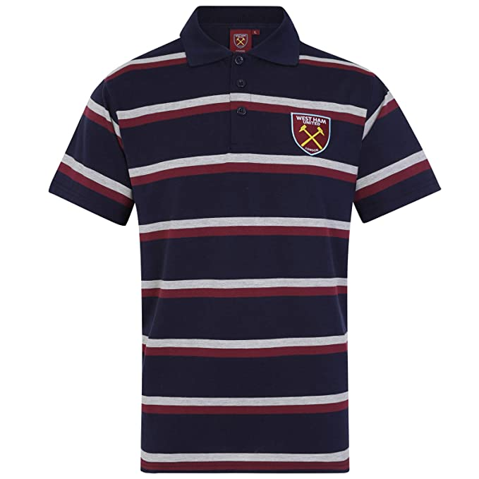 West Ham United FC - Polo Oficial para Hombre - A Rayas: Amazon.es ...