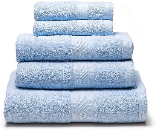 Sancarlos - Juego de 5 toallas YANAI, 100% Algodón, Color Azul ...