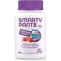 SmartyPants Toddler Formula Daily Gummy Vitamins: Gluten Free, Multivitamin & Omega 3 Fish Oil (DHA/EPA), Methyl B12…