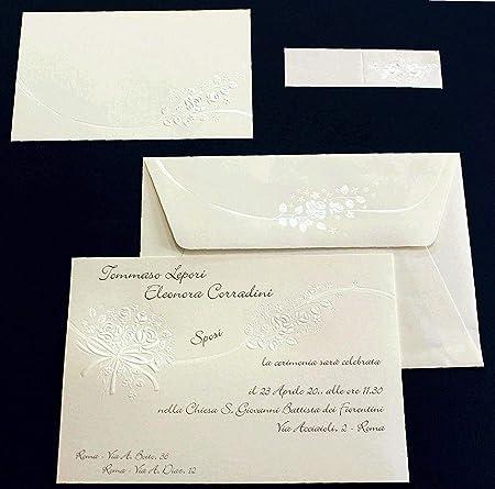 Intestazione Partecipazioni Matrimonio.Cartotecnica Italiana Partecipazioni Matrimonio Cod 56559 Set Da