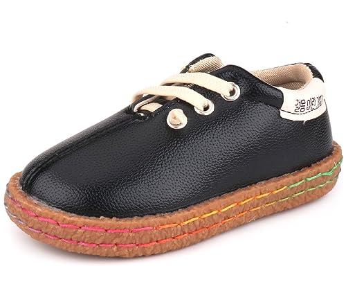 Femizee - Mocasines para niños Varones, Negro (Negro), M Niño pequeño: Amazon.es: Zapatos y complementos