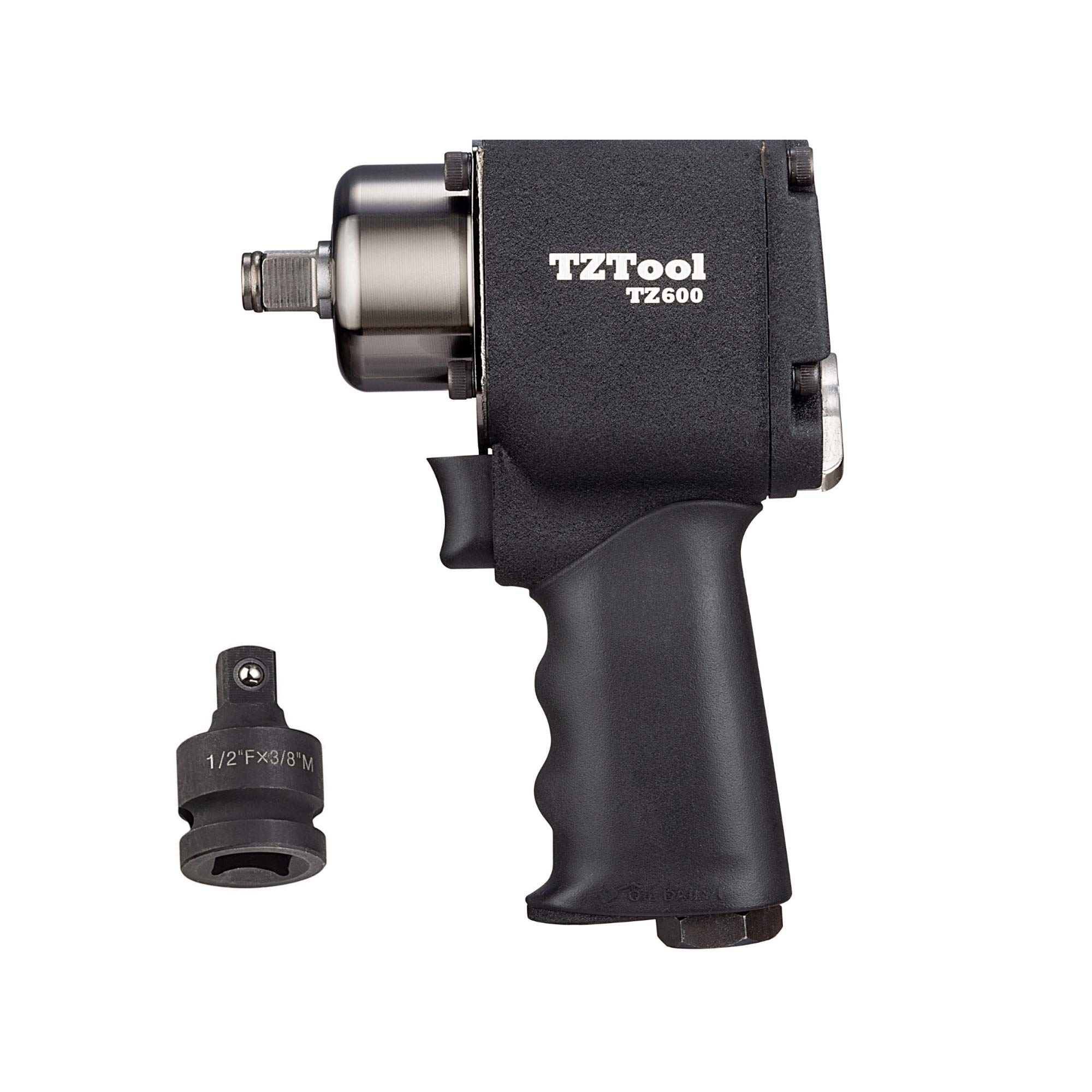 TZTOOL 1/2'' Compact impact wrench with 3/8'' impact adapter