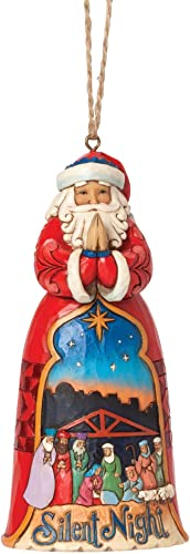 Jim Shore Heartwood Creek Silent Night Santa Ornament 4.75 in