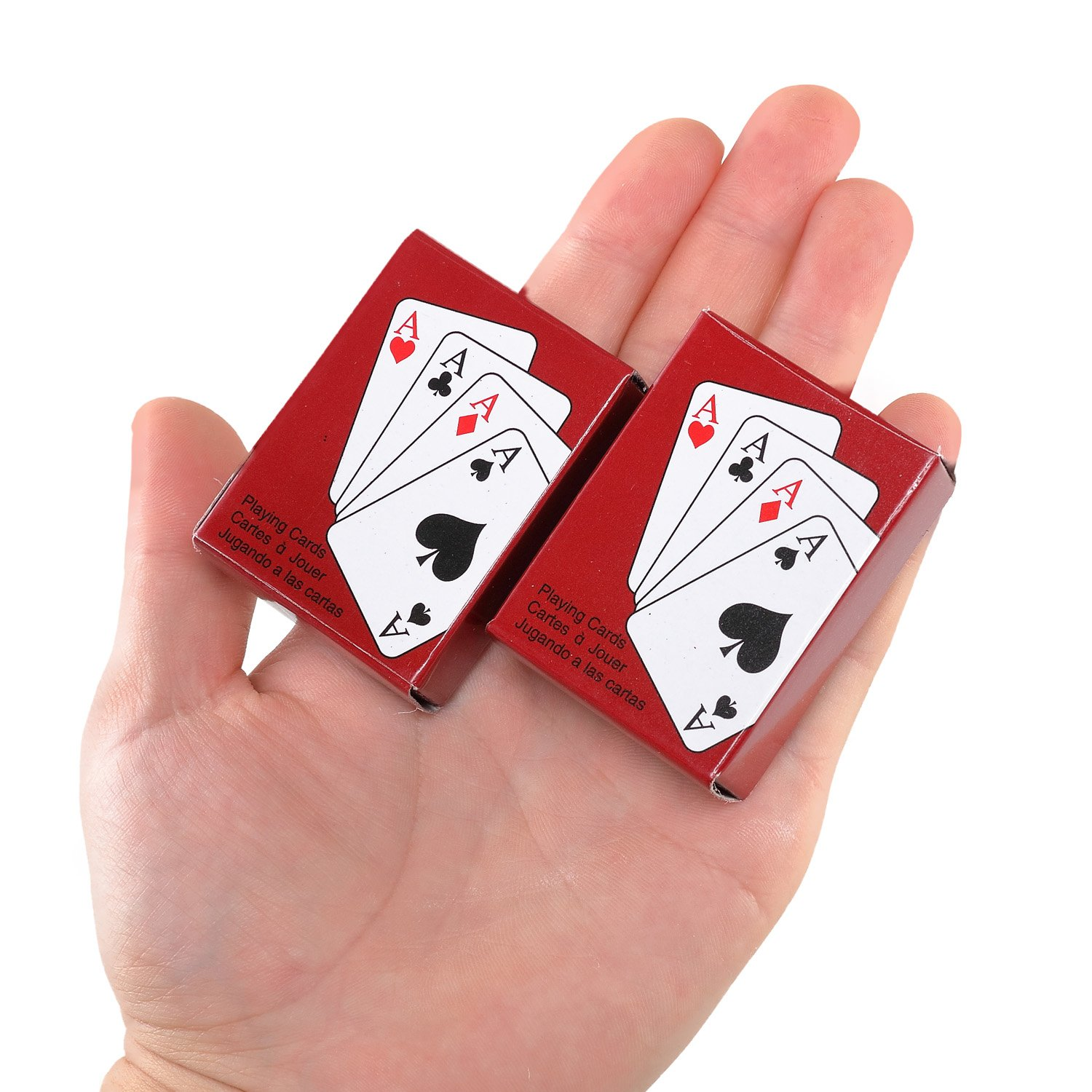 Amazon.com: Poker Playing Cards Mini Traveling Decks Cards 2 Pack by ...