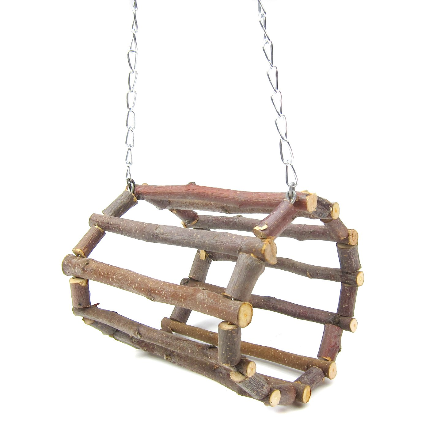 Alfie Pet by Petoga Couture - Lacey Wooden Swing Toy for Small Animals like Dwarf Hamster and Mouse