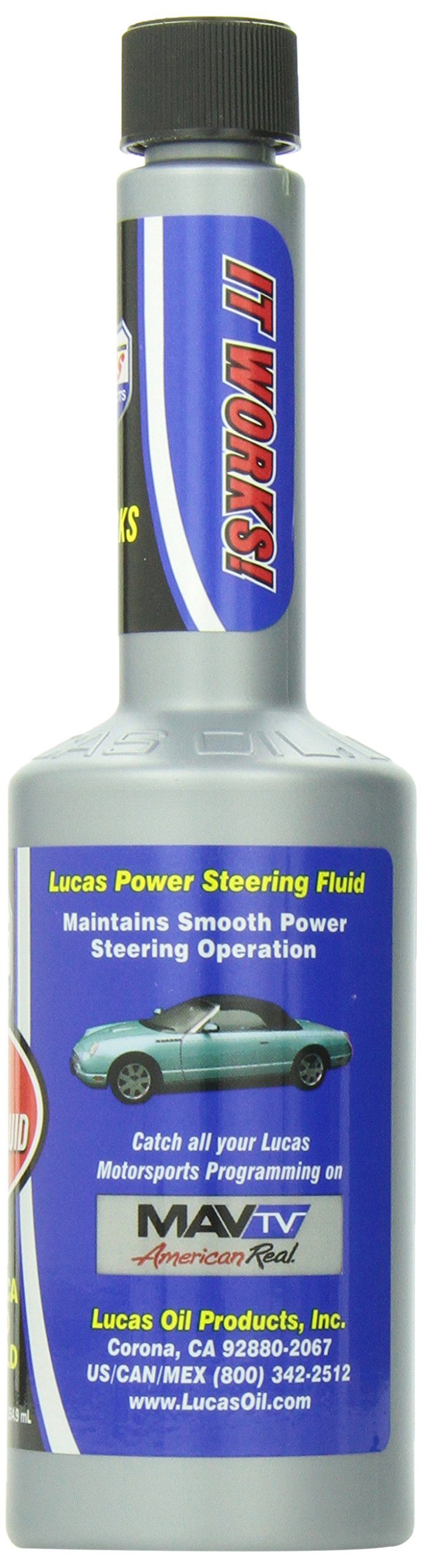 Lucas Oil 10823-12 Power Steering Fluid, 12 oz, (Case of 12)