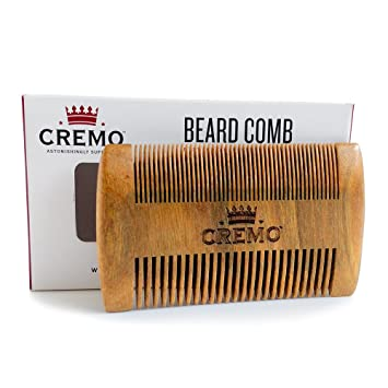 Cremo Dual Sided 100 Sandalwood Beard Comb That Is Static Free And Wont Pull Or Snag Facial Hair