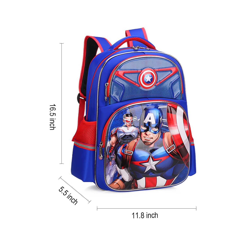 Itechzhu Big Capacity Bookbag for Student Kid Boy Itechzhu 3D Pop-Up Durable Lightweight Water Resistance Big Capacity Bookbag for Students Kids Boys Perfect as Christmas Gift Blue School Backpack