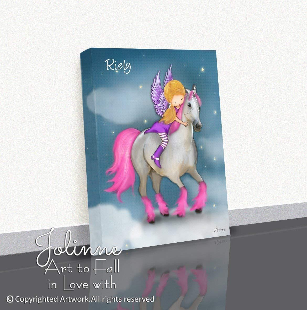 Unicorn Custom Name Nursery Canvas Wall Art
