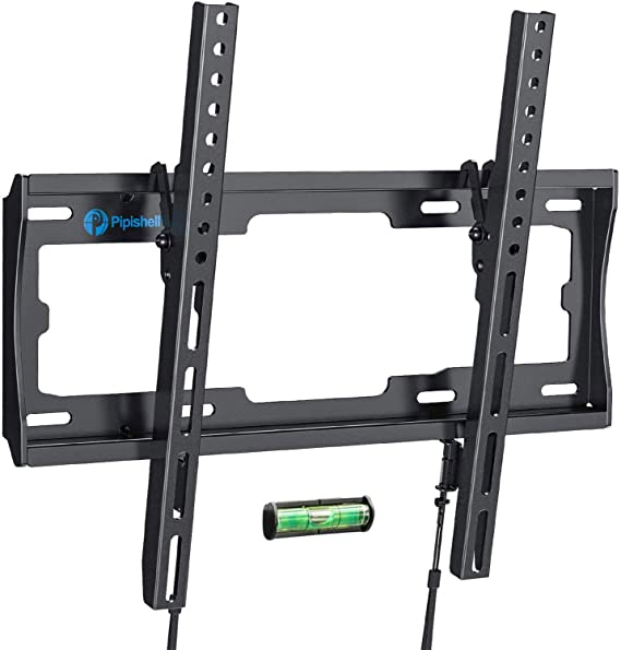 Tilt TV Wall Mount Bracket Low Profile for Most 26-55 Inch LED LCD OLED Plasma Flat Curved Screen TVs