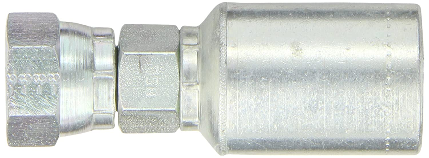 Low Carbon Steel EATON Weatherhead Coll-O-Crimp 43008U-358 British Standard Female Pipe Swivel Fitting 60 Degree Cone 1//2 Pipe Size 1//2 Hose ID 1//2 Pipe Size 1//2 Hose ID