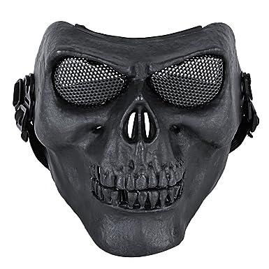 Amazon.com: Coxeer M02 Deluxe Full Face máscara de calavera ...