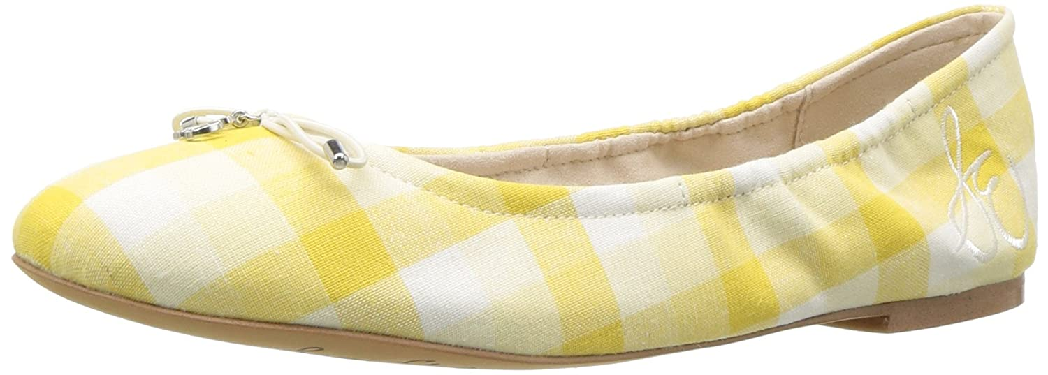 Sam Edelman Women's Felicia Ballet Flat B078HFL9NM 6 B(M) US|Yellow/Multi Gingham