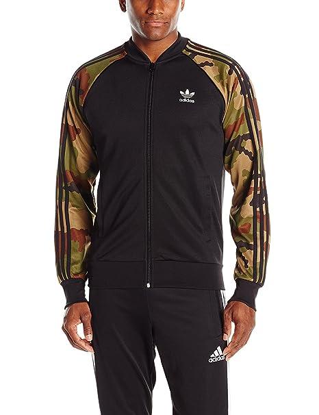adidas Originals Men's Superstar Track Jacket Camo, Black