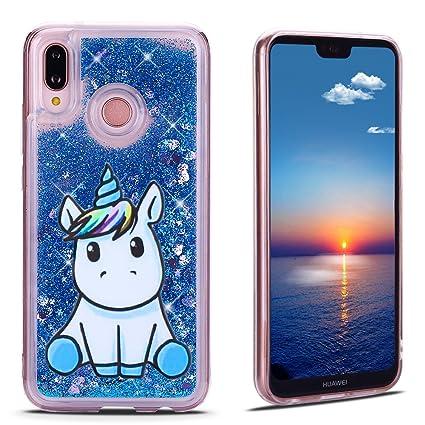 Mosoris Funda Huawei P20 Lite Carcasa, 3D Glitter Líquido ...