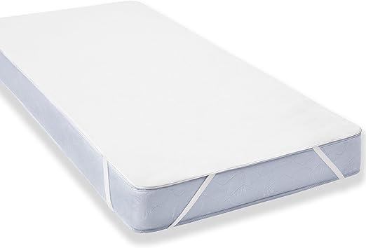 Uniento Protector de colchón Resistente al Agua, algodón, Blanco ...