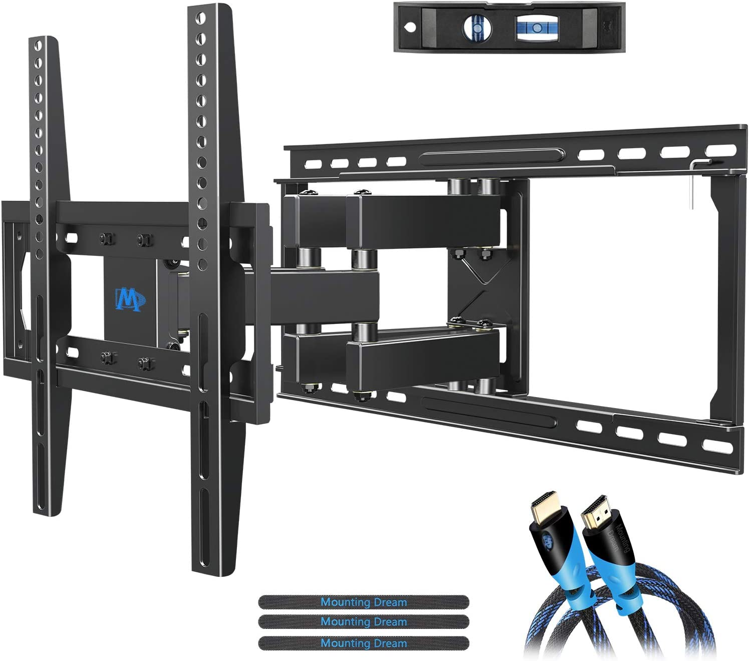 Amazon Com Mounting Dream Tv Mount Full Motion Tv Wall Mounts For 26 55 Inch Some Up To 65 Inch Led Lcd Flat Screen Tv Wall Mount Bracket Up To Vesa 400 X 400mm