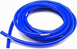 "Autobahn88 High Performance Silicone Vacuum Hose, ID 0.08"" (2mm), OD 0.24"" (6mm), 15 Feet per reel (4.5 Meter), Blue"