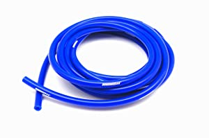 "Autobahn88 High Performance Silicone Vacuum Hose, ID 0.24"" (6mm), OD 0.47"" (12mm), 10 Feet per reel (3 Meter), Blue"