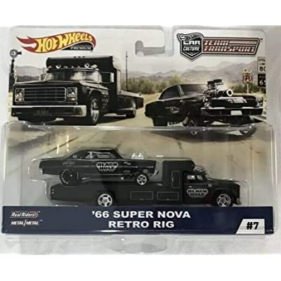 Hot Wheels 2020 Team Transport Car Culsture Series '66 Super Nova and Retro Rig Black Hole Limited Edition 1:64 Scale Collectible Die Cast Metal Toy Car Models: Toys & Games