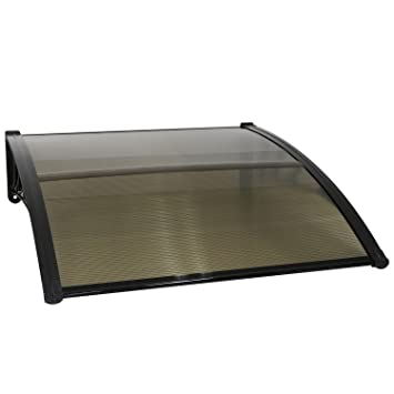 Peach Tree Outdoor Door Window Outdoor Awning Solid Polycarbonate Patio Sunshade Cover Canopy Arc-Shape  sc 1 st  Amazon.com & Amazon.com : Peach Tree Outdoor Door Window Outdoor Awning Solid ...