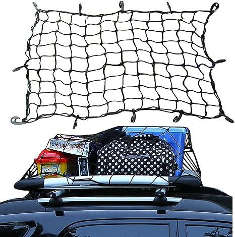 v/éhicules tout terrain Filet robuste extensible en maille /élastique r/églable avec crochets en plastique pour motos