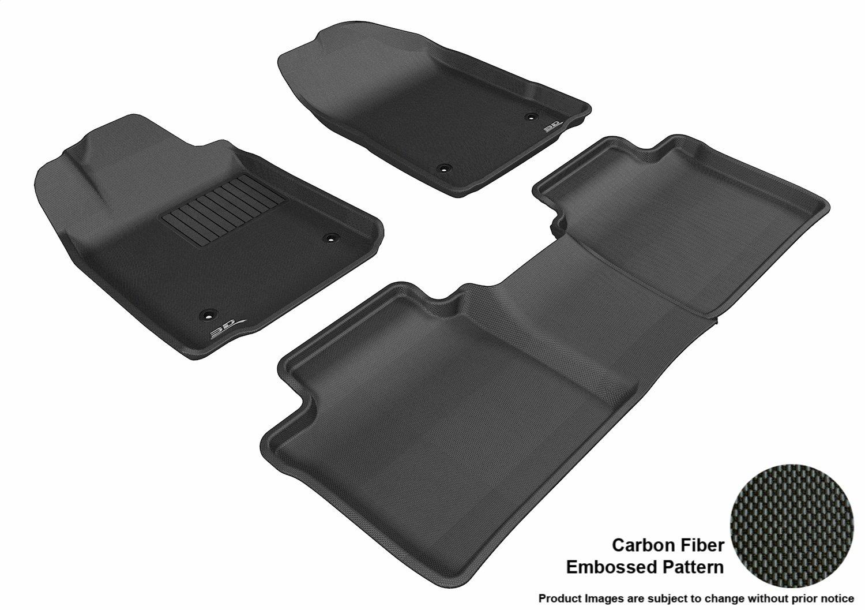 Kagu Rubber Black 3D MAXpider Complete Set Custom Fit All-Weather Floor Mat for Select Lexus ES350 Models L1LX00001509