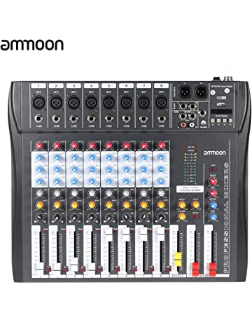 ammoon CT80S-USB 8 Canales Digital de Micrófono de Línea de Audio de Mezcla Mezclador