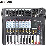 ammoon CT80S-USB 8 Canales Digital de Micrófono de Línea de Audio de Mezcla Mezclador Consola con 48 V de Alimentación Phantom para la Grabación de DJ Etapa Música Karaoke Valoración