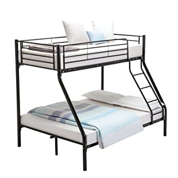 mecor 3FT Single 4FT6 Double Metal Bunk Beds Triple Sleeper Beds for Adult  and Childrens 1e587827e