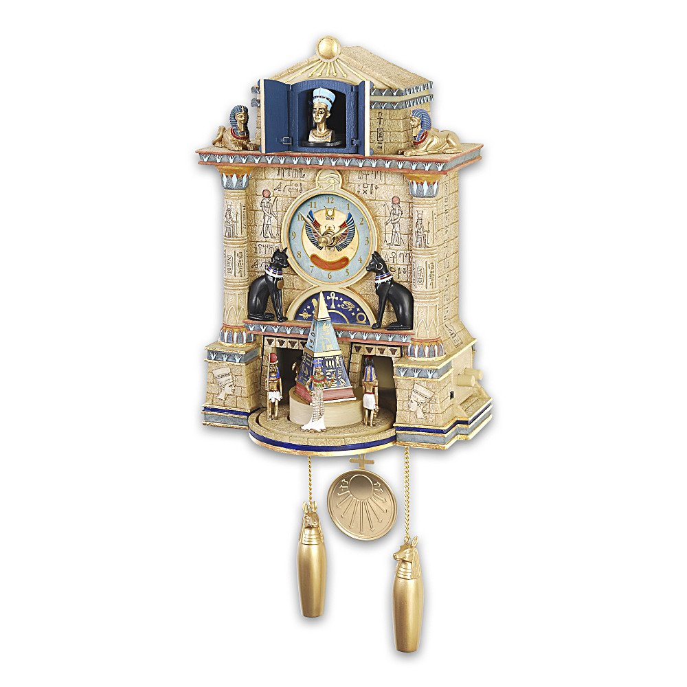 Amazon cuckoo clock treasures of ancient egypt cuckoo clock amazon cuckoo clock treasures of ancient egypt cuckoo clock by the bradford exchange home kitchen amipublicfo Image collections