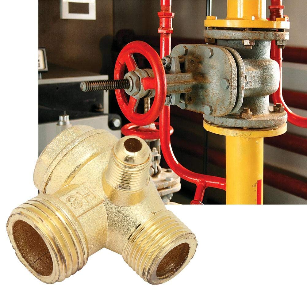 compresseur dair en alliage de Zinc clapet anti-retour unidirectionnel /à trois voies connecter les raccords de tuyauterie Clapet anti-retour pneumatique