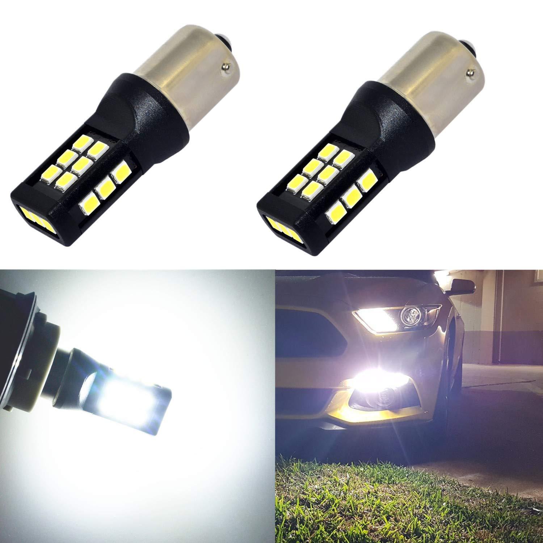 Alla Lighting T25 3121 3157 Amber Yellow LED Bulbs Xtreme Super Bright 4114 4157 3457 4057 3157 LED Bulb High Power 3035 21-SMD 12V LED 3157 Bulb for Car Truck Turn Signal Blinker Lights 3157A