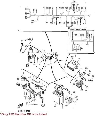 Yamaha r1 rn12//19 bj04-08//r6 rj11//15 bj06-16 compteur de vitesse Tuning Conversion DEL Set Bleu